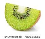 ripe slice of kiwi fruit... | Shutterstock . vector #700186681