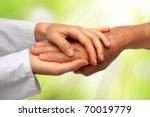 old and young hand | Shutterstock . vector #70019779