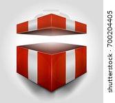 christmas open gift box ... | Shutterstock .eps vector #700204405