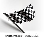 waving checkered photo real flag | Shutterstock .eps vector #70020661