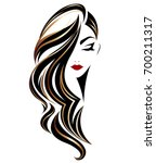 illustration of woman long hair ... | Shutterstock .eps vector #700211317