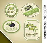 labels for olive oils with... | Shutterstock .eps vector #700211845