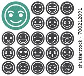 emotion icons. vector... | Shutterstock .eps vector #700212091