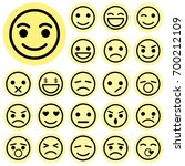 emotion icons. vector... | Shutterstock .eps vector #700212109