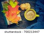 autumn still life   warm... | Shutterstock . vector #700213447