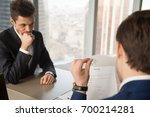 worried unhired job applicant... | Shutterstock . vector #700214281