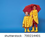 Two Happy Funny Children With...