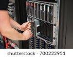 computer engineer installing...   Shutterstock . vector #700222951