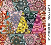 seamless mandalas pattern....   Shutterstock .eps vector #700231345