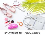 fashion and beauty concept with ... | Shutterstock . vector #700233091