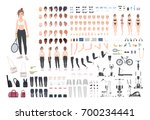 sports girl character... | Shutterstock .eps vector #700234441