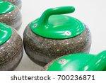 curling stones equipment on the ... | Shutterstock . vector #700236871