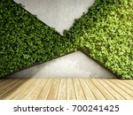wall in modern interior with... | Shutterstock . vector #700241425
