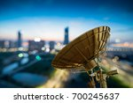 picture of parabolic satellite... | Shutterstock . vector #700245637