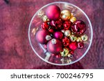 christmas decoration ball   red ... | Shutterstock . vector #700246795