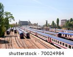 Railway Station With Wagons An...