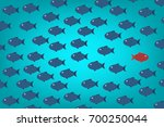 think differently  one red...   Shutterstock .eps vector #700250044