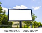 blank poster on the street | Shutterstock . vector #700250299