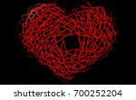 dark multicolor  rainbow vector ... | Shutterstock .eps vector #700252204