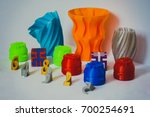 models printed by 3d printer.... | Shutterstock . vector #700254691