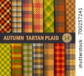 set  tartan seamless pattern... | Shutterstock .eps vector #700257241