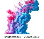 color drop in water isolated on ... | Shutterstock . vector #700258819