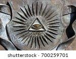 all seeing eye | Shutterstock . vector #700259701