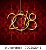 2018 new year background for... | Shutterstock . vector #700262041