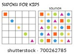 sudoku for kids with solution ... | Shutterstock .eps vector #700262785