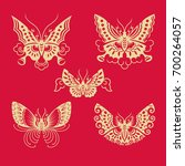 butterfly patterns of china... | Shutterstock .eps vector #700264057