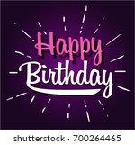 happy birthday cartoon | Shutterstock .eps vector #700264465