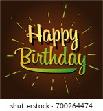 happy birthday cartoon | Shutterstock .eps vector #700264474
