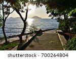 sunset in a park   Shutterstock . vector #700264804