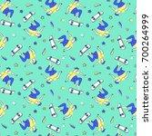 skateboarding seamless pattern. | Shutterstock .eps vector #700264999