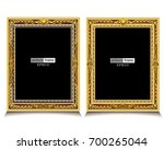 gold photo frame realistic... | Shutterstock .eps vector #700265044
