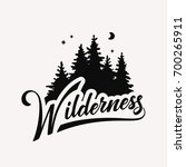 wilderness hand drawn... | Shutterstock .eps vector #700265911