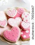valentine cookies | Shutterstock . vector #70026667