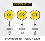 yellow linear infographic... | Shutterstock .eps vector #700271305
