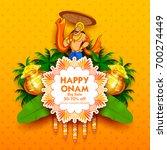 illustration of king mahabali... | Shutterstock .eps vector #700274449
