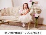 Happy smiling flower girl...