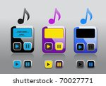 music note   player icon  on ... | Shutterstock .eps vector #70027771