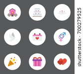 flat icons present  sexuality... | Shutterstock .eps vector #700279525