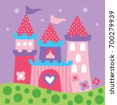 tale princess castle vector... | Shutterstock .eps vector #700279939