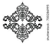 black vintage ornament  baroque ... | Shutterstock .eps vector #700286995