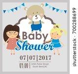 baby shower invitation card | Shutterstock .eps vector #700288699