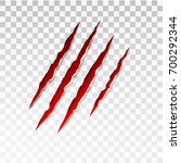animal red scratches on... | Shutterstock .eps vector #700292344