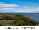 Small photo of Picturesque landscape with island. Aland island archipelago nature.