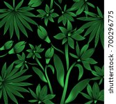 Tropical Pattern Foliage With...