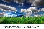 modern renewable energy concept.... | Shutterstock . vector #700300675