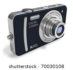 Compact digital camera - stock photo